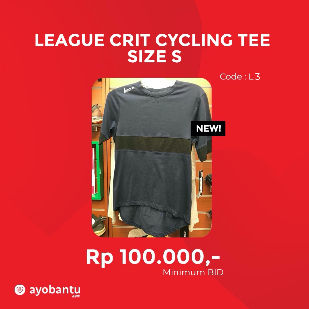 League Crit Cycling Tee Size S
