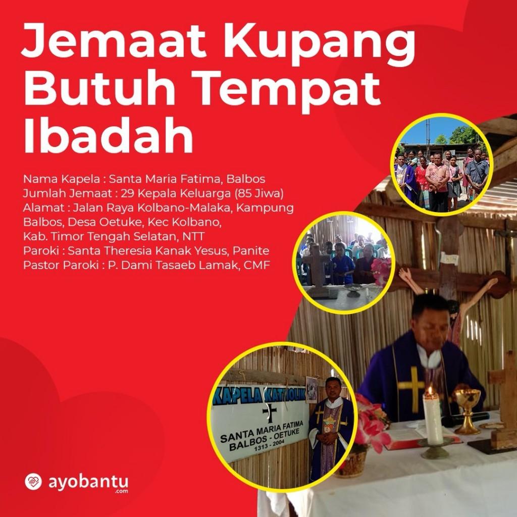 Jemaat Kupang Butuh Tempat Ibadah